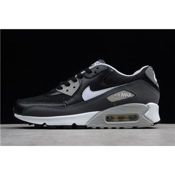 newest 12278 928ff Nike Air Max 90 Essential Black White-Dark Grey-Wolf Grey 537384-