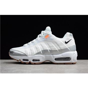 best sneakers fea8c 2c36d Off-White x Nike Air Max 95 White Silver Men s Size 609048-159