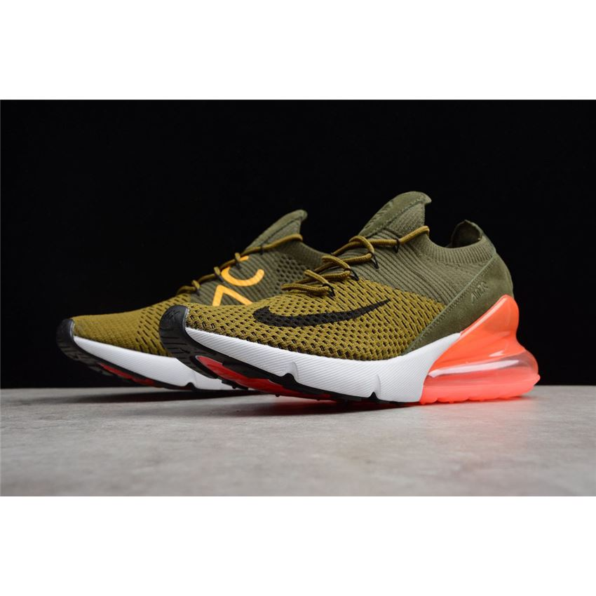 best sneakers 2a5b0 c4b21 Mens and WMNS Nike Air Max 270 Flyknit Army Green Dark Green Black Red