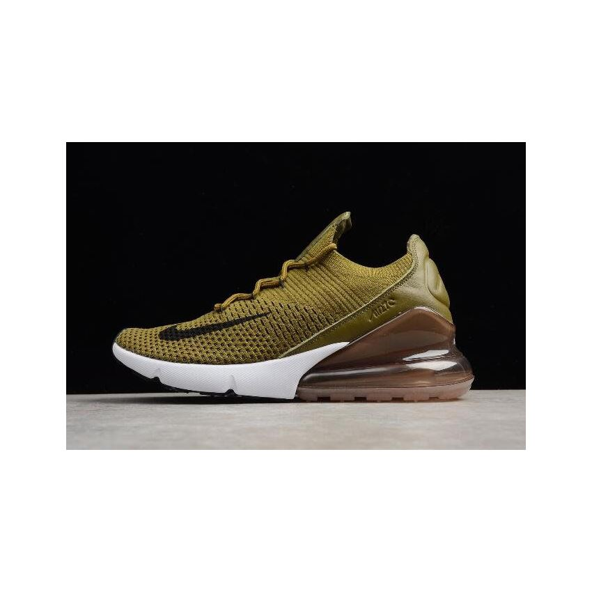 Nike Air Max 270 Flyknit Olive Flak Army GreenBlack Coffee