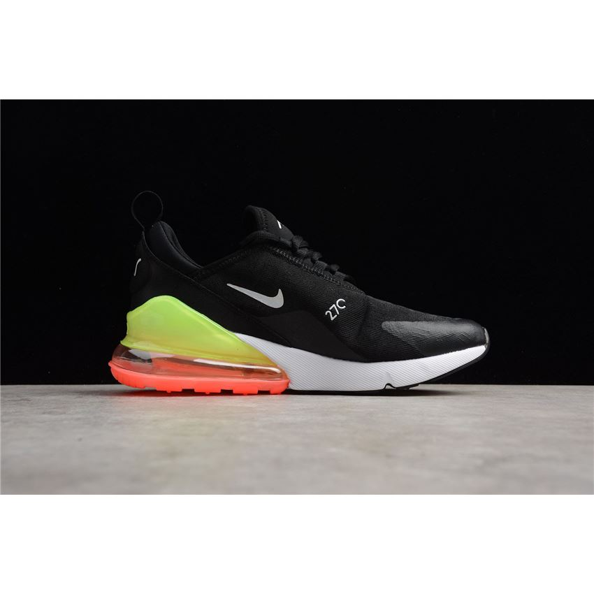 Nike Air Max 270 SE Black White Green Running Shoes AQ9164