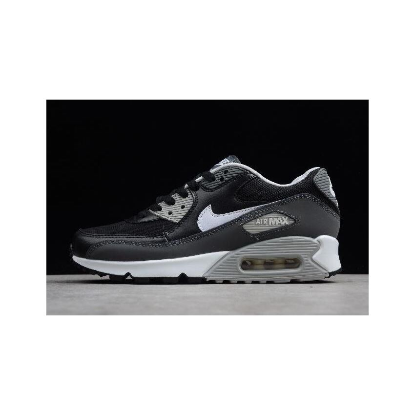 Nike Air Max 90 Essential BlackWhiteDark GreyWolf Grey 537384 032 Mens Womens Sneakers 537384 032