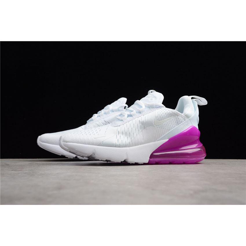 Women's Nike Air Max 270 WhitePurple Running Shoes Free