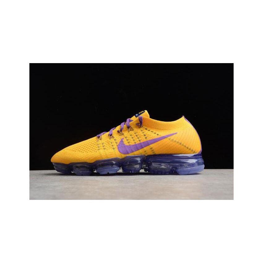 Men's Nike Air VaporMax Flyknit 2018 Lemon YellowPurple