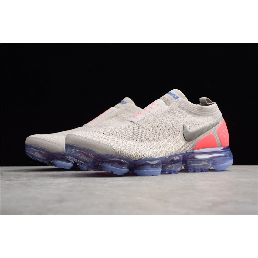 f7525f5bde Mens and WMNS Nike Air VaporMax Flyknit Moc 2 Moon Particle/Solar  Red-Indigo Burst AH7006-201