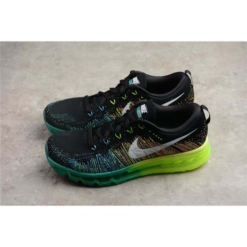 nike flyknit air max black white turbo green volt