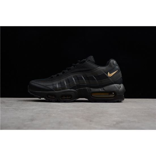 Hot Sale Nike Air Max 95 Premium SE Black Gold 924478 003 Men's Running Lifestyle Shoes 924478 003