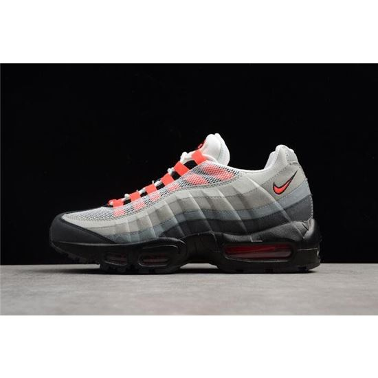 Nike Air Max 95 WhiteSolar Red Neutral Grey Men's Running